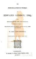 The Miscellaneous Works of Edward Gibbon  Esq PDF
