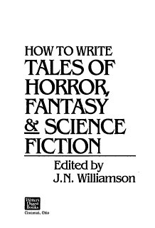 How to Write Tales of Horror  Fantasy   Science Fiction Book