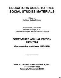 Educators Guide to Free Social Studies Materials PDF
