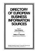 Directory of European Business Information Sources PDF