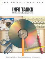 Info Tasks for Successful Learning PDF