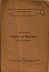 Last Years of Charles de Biencourt