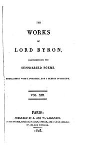 The works of lord Byron, comprehending the suppressed poems