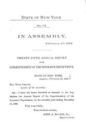 Annual Report of the Superintendent of Insurance to the New York Legislature