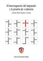 El interrogatorio del imputado y la prueba de confesi  n PDF