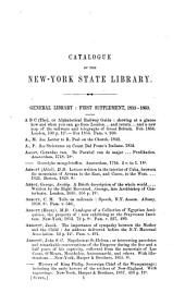 Catalogue of the New-York State Library: 1861