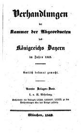 Verhandlungen der Kammer der Abgeordneten des Königreichs Bayern: 1843,9,1/2