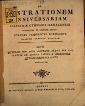 Quaedam non satis accurate ... de lingua latina a recentiore quodam scriptore dicta refellentur