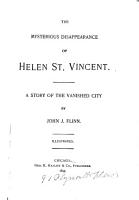The Mysterious Disappearance of Helen St  Vincent PDF