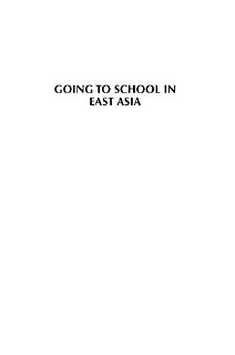 Going to School in East Asia Book