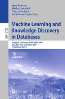 Machine Learning and Knowledge Discovery in Databases PDF
