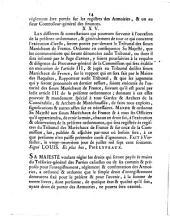 Ordonnance du Roi, concernant les armoiries: du 29 juillet 1760. De par le Roi