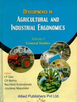 Developments in Agricultural and Industrial Ergonomics PDF