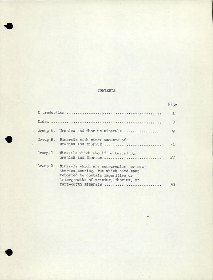 A Glossary of Uranium- and Thorium-bearing Minerals