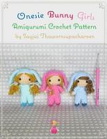 Onesie Bunny Girls Amigurumi Crochet Pattern PDF