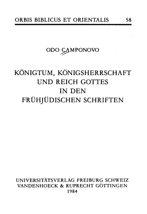 K  nigtum  K  nigsherrschaft und Reich Gottes in den fr  hj  dischen Schriften PDF