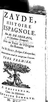 Zayde, histoire espagnole: Volume1