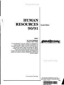Human Resources 90 91 PDF