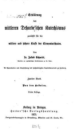 Erkl  rung des mittleren Deharbe schen Katechismus0 PDF