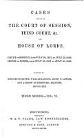 Cases Decided in the Court of Session  Teind Court  Etc  and House of Lords PDF