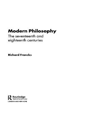 Modern Philosophy PDF