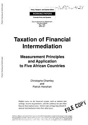 Taxation of Financial Intermediation PDF