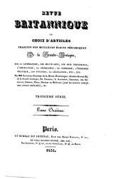 Revue Britannique ou choix d'articles traduits des meilleurs écrits périodiques da la Grande-Bretagne [etc.]: Volume39