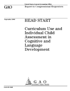 Head Start curriculum use and individual child assessment in cognitive and language development   report to congressional requesters  Book