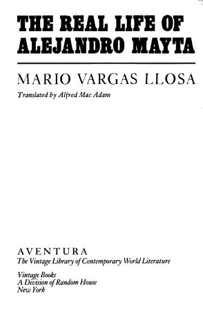 The Real Life of Alejandro Mayta PDF