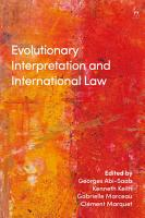 Evolutionary Interpretation and International Law PDF