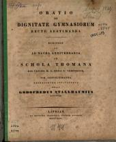 De dignitate gymnasiorum recte aestimanda