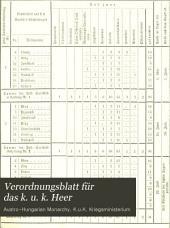 Verordnungsblatt für das k. u. k. Heer: Beiblatt, Band 1