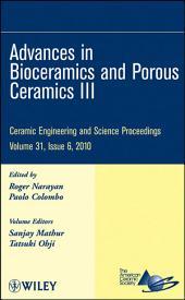 Advances in Bioceramics and Porous Ceramics III