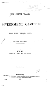 Government Gazette of the State of New South Wales: Volume 2, Issues 135-184