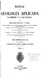 Manual de geología aplicada a la agricultura y a las artes industriales: Volumen 2