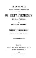 G  ographie  histoire  statistique et arch  ologie des 89 d  partements de la France PDF
