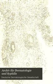 Archiv für Dermatologie und Syphilis: Bände 26-27