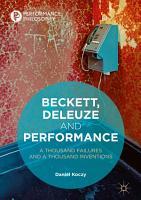 Beckett  Deleuze and Performance PDF