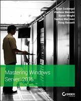 Mastering Windows Server 2016 PDF
