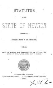 Statutes of the State of Nevada