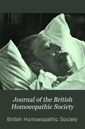 Journal of the British Homoeopathic Society: Volume 7