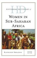 Historical Dictionary of Women in Sub Saharan Africa PDF