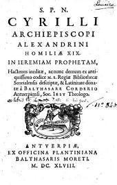 Homiliae 19 in Jeremiam Proph