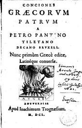 Conciones graecorum patrum