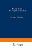 Fragmente aus den Naturwissenschaften PDF