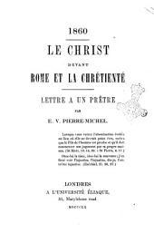1860: le Christ devant Rome et la Chrétienté