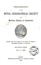 Proceedings of the Royal Geographical Society and Monthly Record of Geography: Volume 2