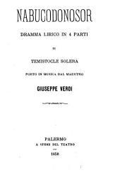 Nabucodonosor: dramma lirico in 4 parti