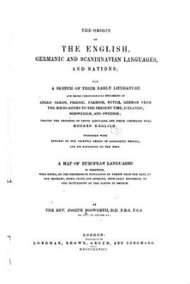 The origin of the English  Germanic  and Scandinavian languages and nations PDF