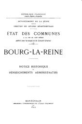 État des communes à la fin du XIXe siècle: Bourg-la-Reine - Charenton-le-Pont